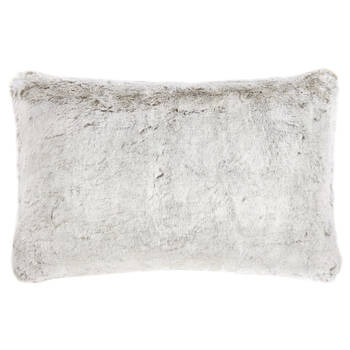 "Fox Faux Fur Decorative Lumbar Pillow 14"" X 22"""