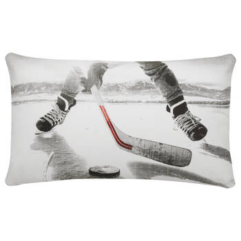 "Dereck Hockey Decorative Lumbar Pillow 14"" X 22"""
