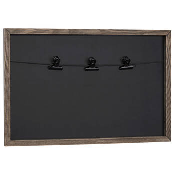 Black Chalkboard with Clips
