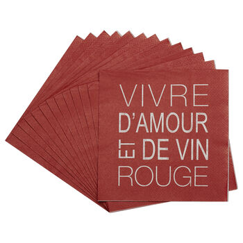 Pack of 20 Vin Rouge Paper Napkins