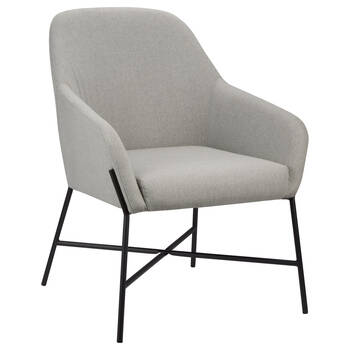 Fabric and Metal Lounge Chair