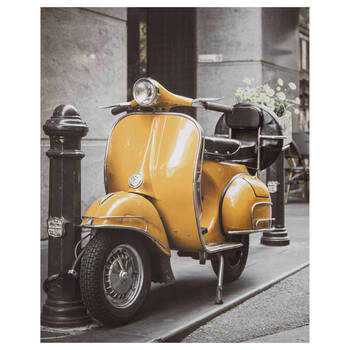 Yellow Vespa Printed Canvas