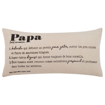 "Papa Decorative Lumbar Pillow 11"" X 21"""
