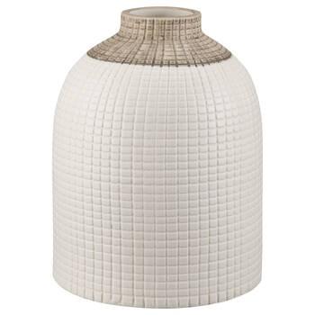 Vase blanc avec texture gauffrée