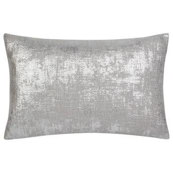 """Silver Foil Decorative Lumbar Pillow 13"""" x 20"""""""
