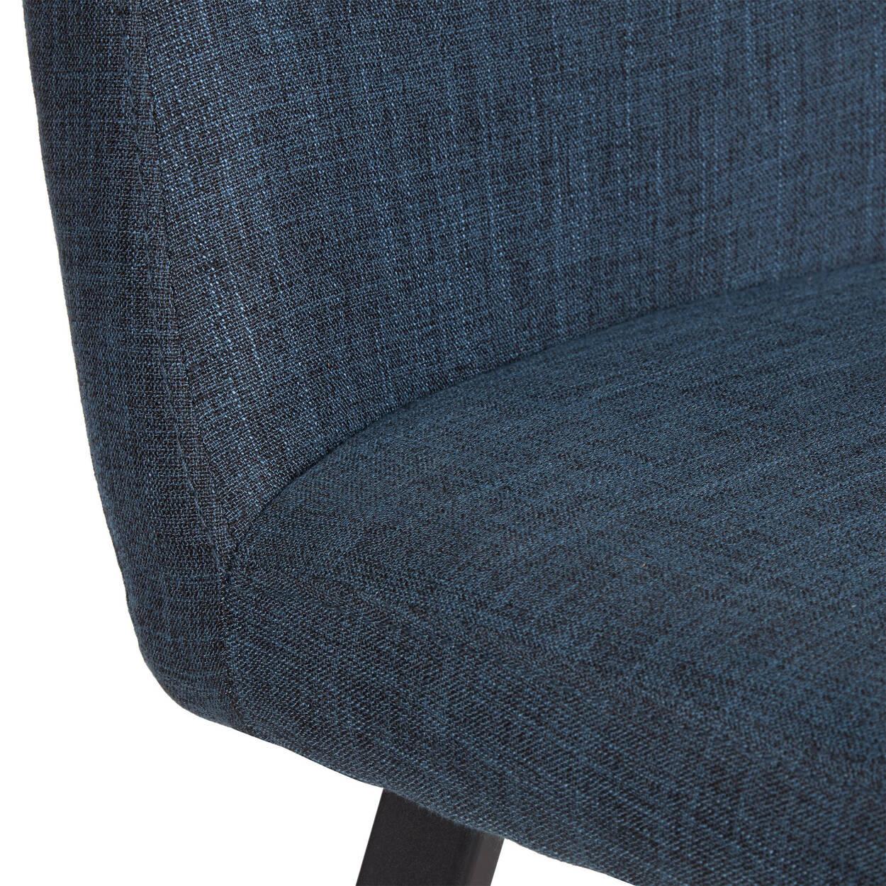 Chaise de salle à manger en tissu Chita et en fer