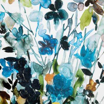 Gel-Embellished Colourful Bouquet Printed Canvas