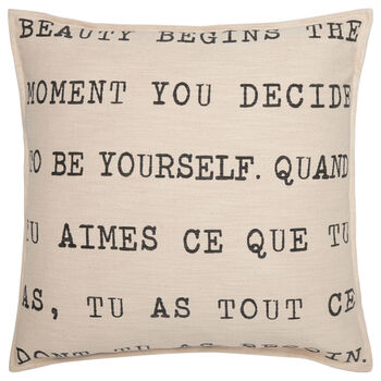 "Be Yourself Typography Decorative Pillow 20"" X 20"""