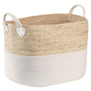 Panier de rangement en fibre de maïs et en coton