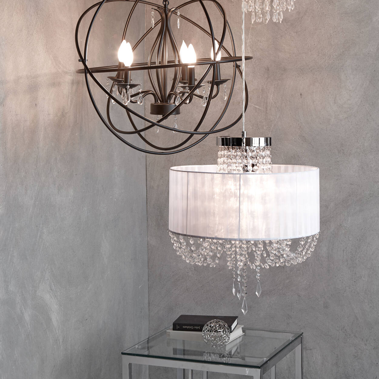Ribbon & Droplets Ceiling Lamp
