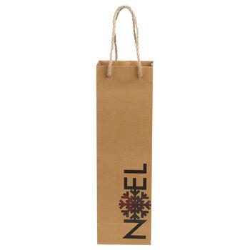 Noel Paper Wine Bag