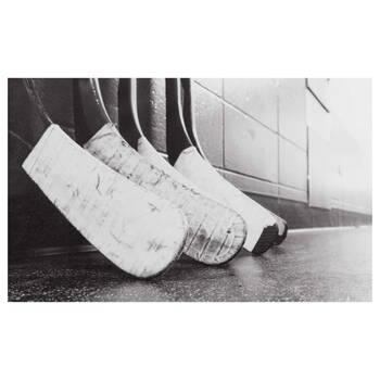 Hockey Sticks Printed Canvas