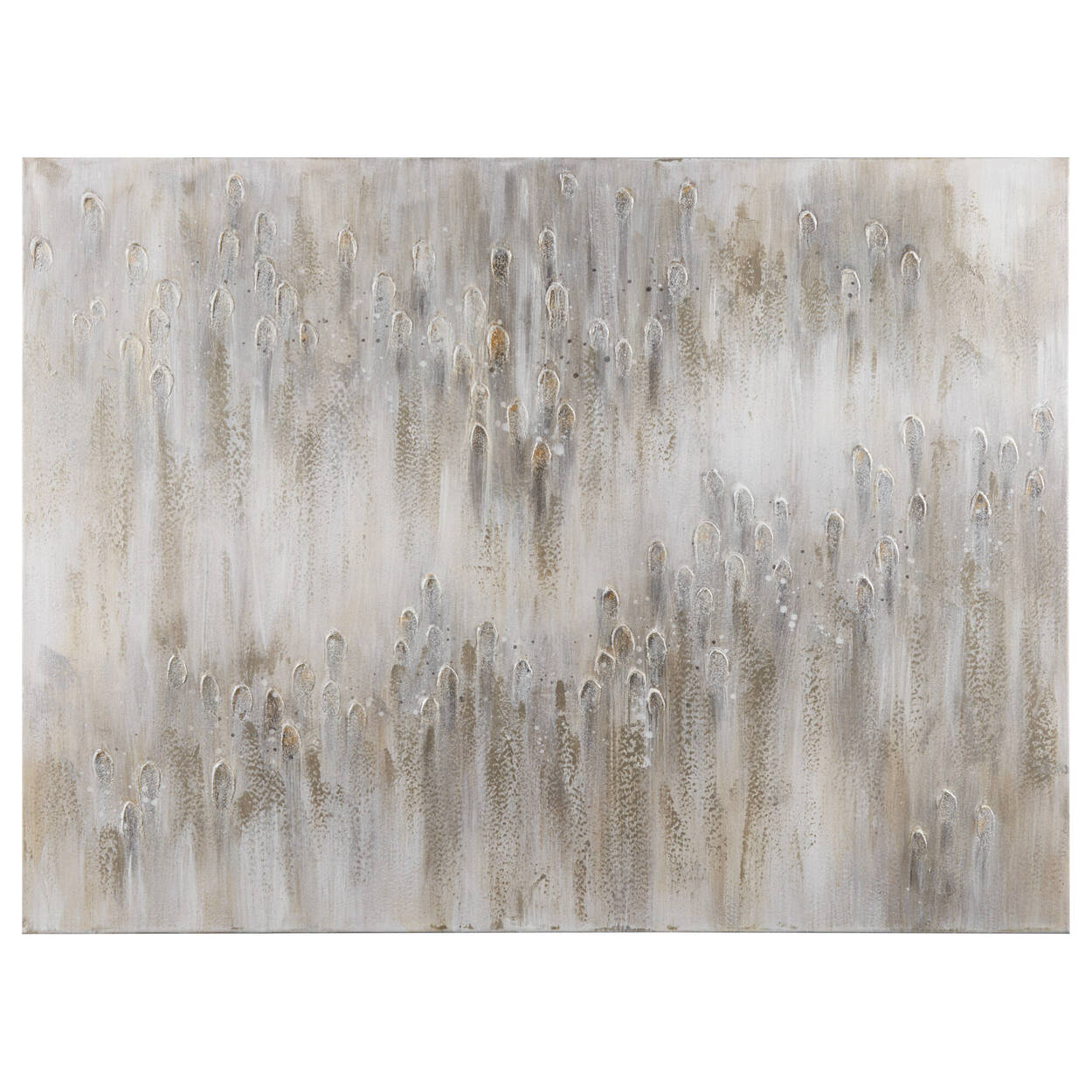 Abstract Oil Painted Canvas