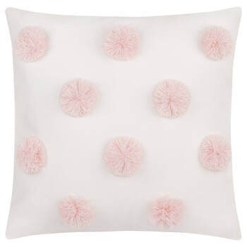 "Lanni Pompom Decorative Pillow 15"" x 15"""