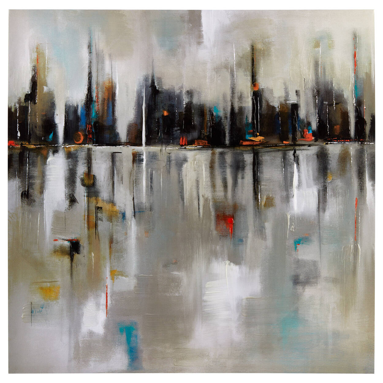 Harbour Town Printed Canvas with Gel Embellishment