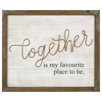 Together Metal and Wood Wall Art