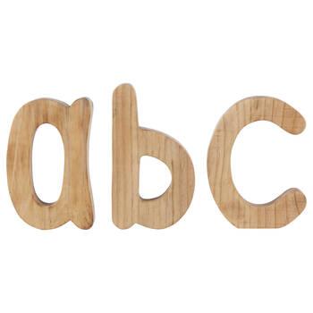 Lettres décorative A, B, C en bois naturel