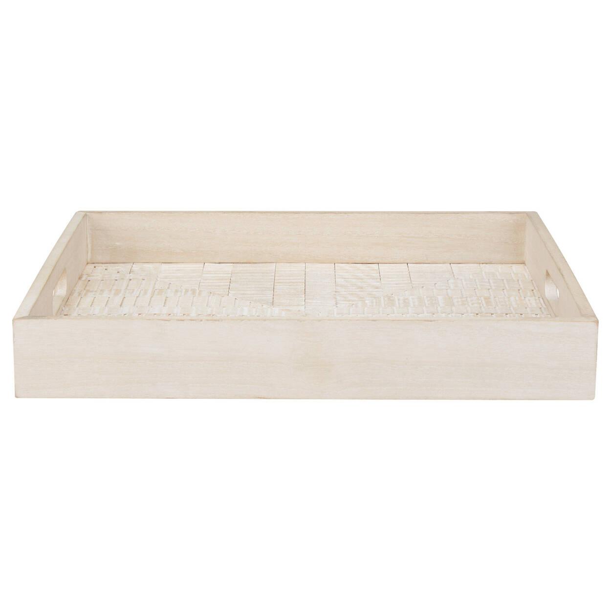Whitewashed Wood Tray