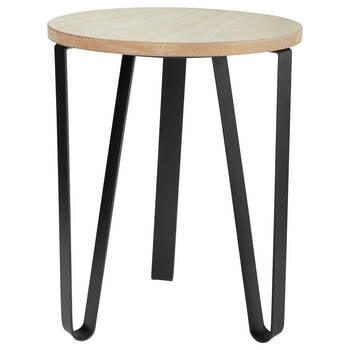Wood Stool with Metal Legs