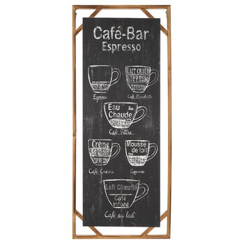 Café Bar Wood Wall Art