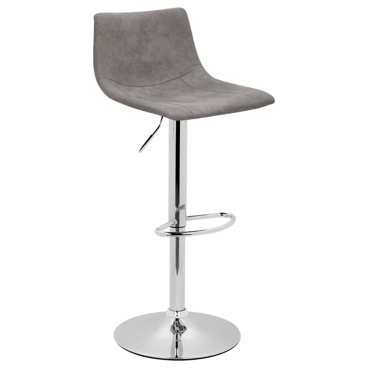 Textured Faux Leather Amp Chrome Adjustable Bar Stool