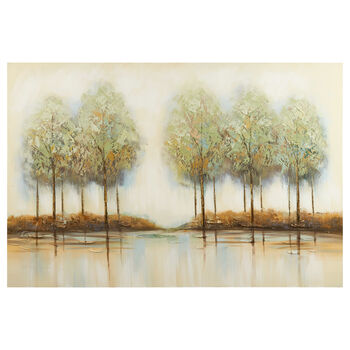 Trees Oil Painted Canvas