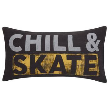 "Chill Skate Board Decorative Lumbar Pillow 12"" X 22"""