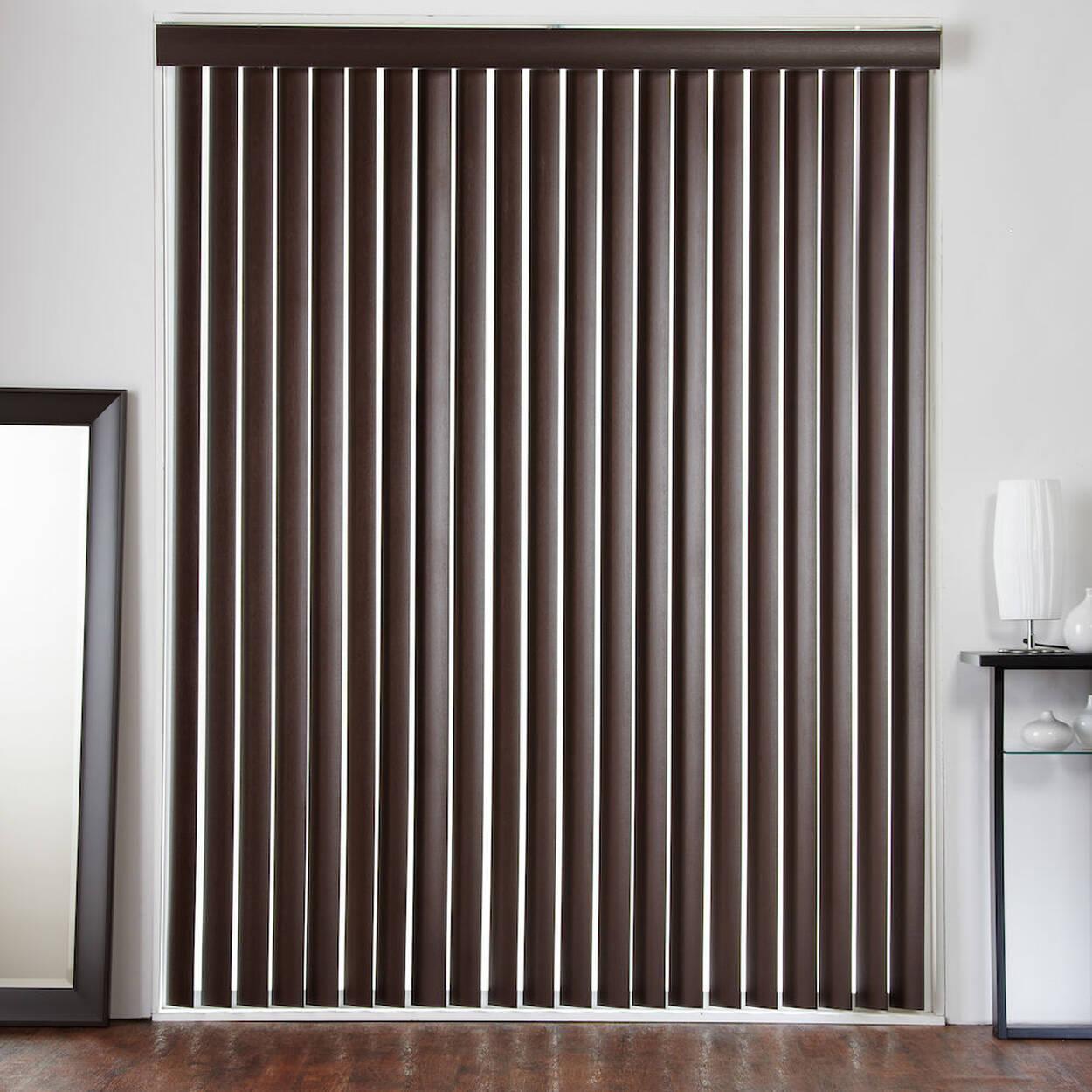 Store vertical pour porte fen tre imitation de bois - Store pour porte fenetre ...