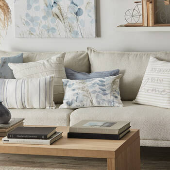 """Coussin lombaire décoratif eucalyptus 13"""" x 20"""""""