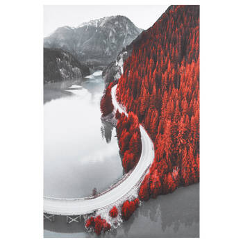 Road in Mountains Printed Canvas