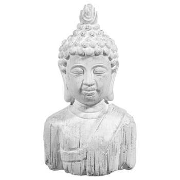 Statue buste de Bouddha en ciment 10,5 po