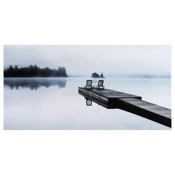 Tableau imprimé chaises sur le quai