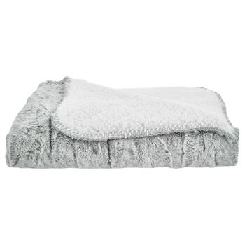 "Cierra Faux Fur & Sherpa Throw 30"" X 40"""