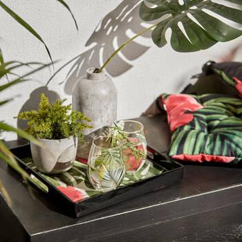 Ensemble de 2 verres feuilles de palmier