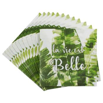 Pack of 20 La Vie est Belle Paper Napkins