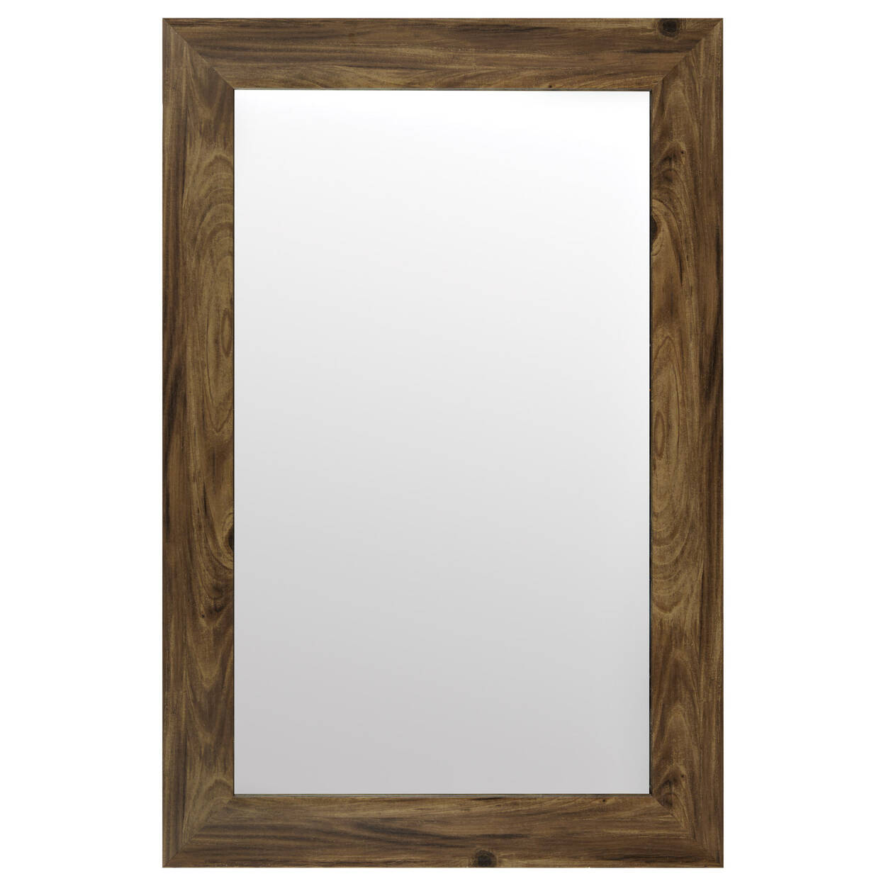 Miroir avec cadre effet bois