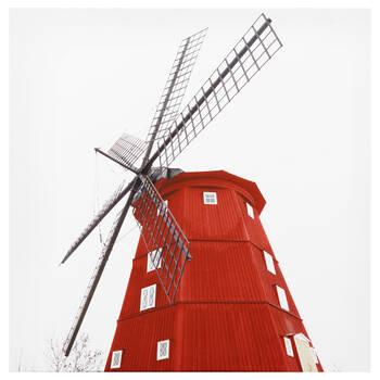 Tableau imprimé d'un moulin rouge