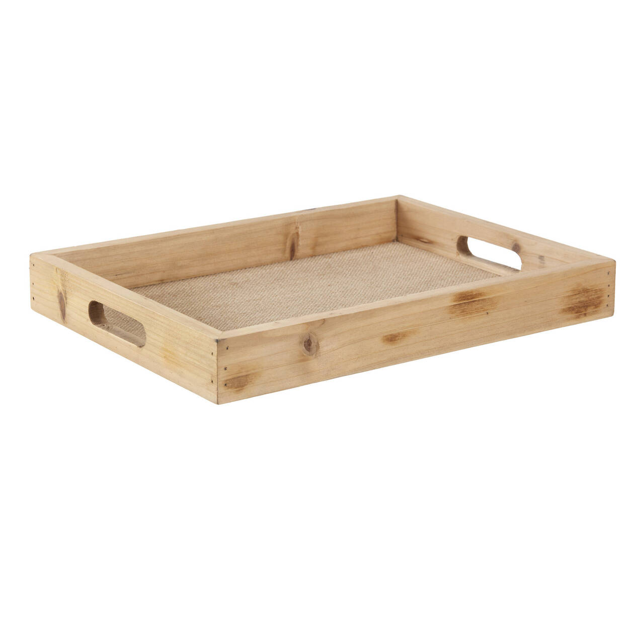 Natural Wood Rectangular Tray