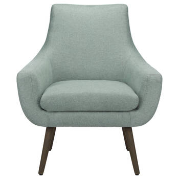 Fabric and Wood Lounge Chair