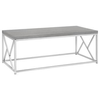 Veneer and Metal Coffee Table