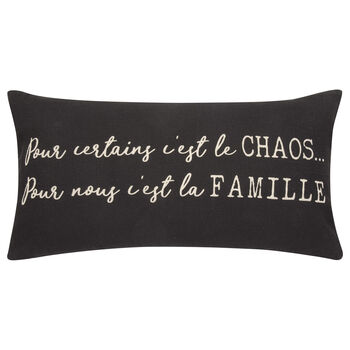 "C'est La Famille Decorative Lumbar Pillow 11"" X 21"""