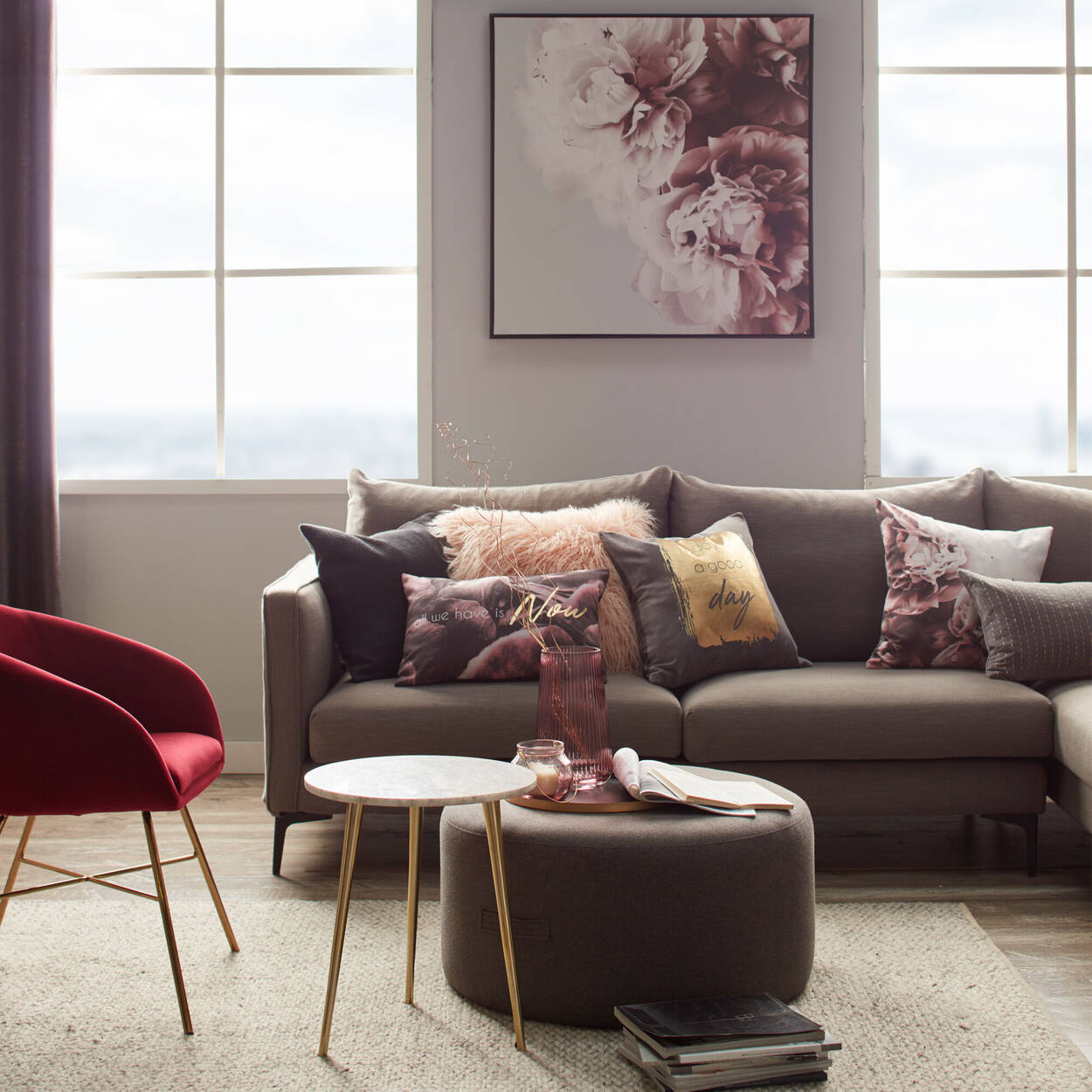 "Tajan Embroidered Velvet Decorative Lumbar Pillow 13"" X 20"""