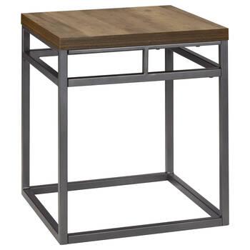 Table d'appoint en placage et en fer