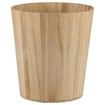 Corbeille à papier en bois naturel