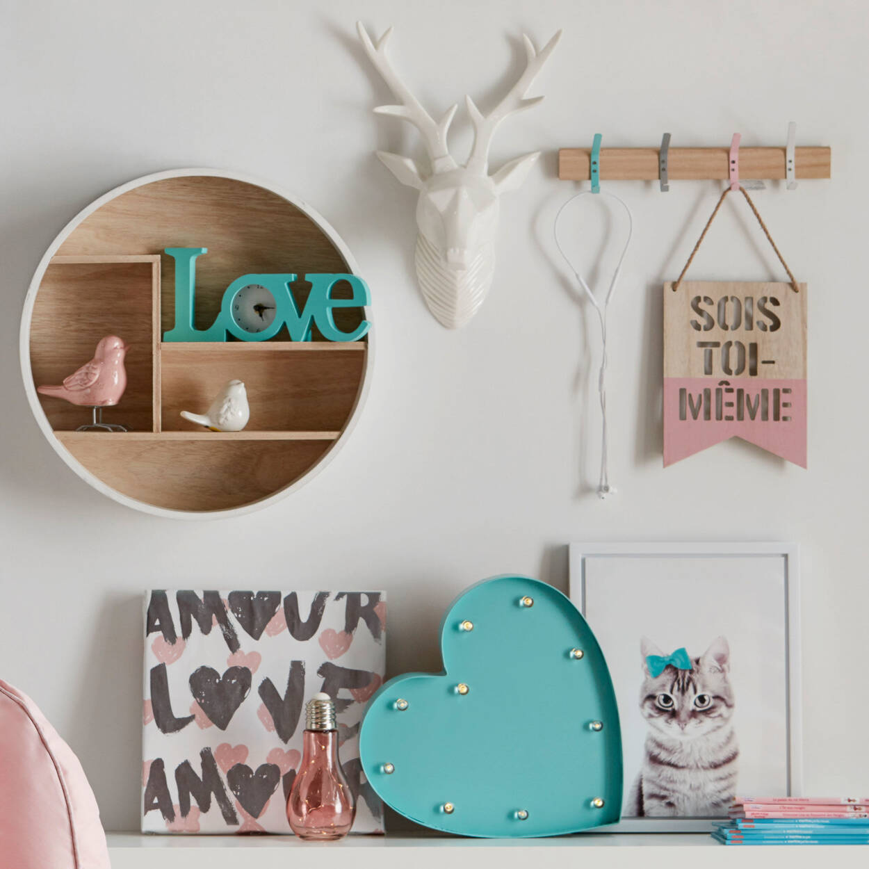 Decorative Metal Heart with LED Lights