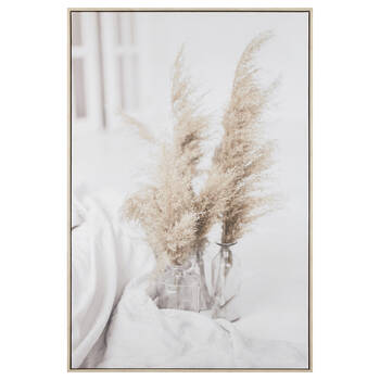 Pampas in Vase Framed Canvas