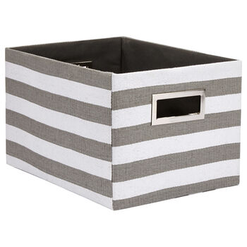 Large Striped Storage Basket
