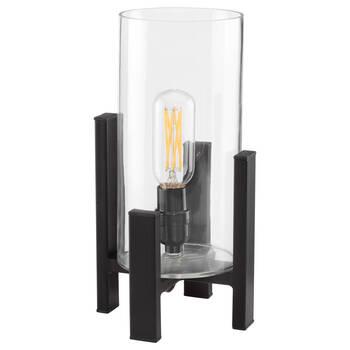 Lampe de table en verre et en métal