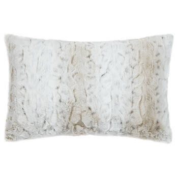 "Lynx Faux Fur Decorative Lumbar Pillow 14"" x 22"""