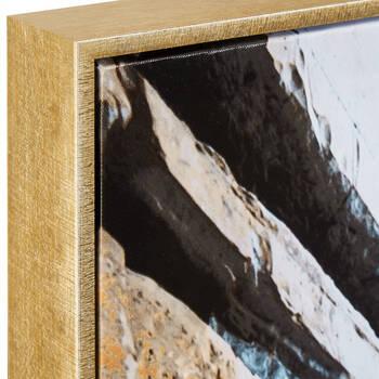 Foil-Embellished Framed Rocky Shore Printed Canvas
